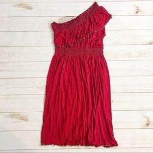 Gilli Jersey Knit One Shoulder Summer Dress